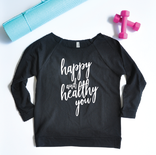 Happy and Healthy You Lightweight 3/4 Sleeve Sweater