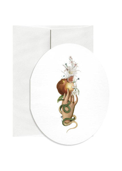 Fig Oval Greeting Card