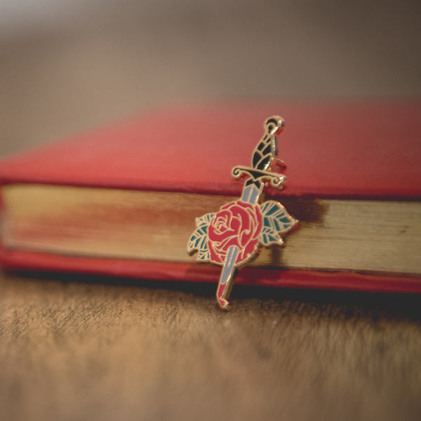Bleeding Rose Enamel Pin