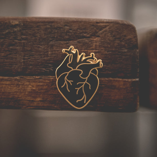 Gold Coeur Noir (Black Heart) Enamel Pin