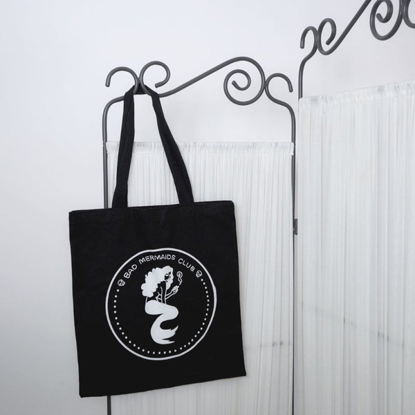 Bad Mermaids Club Tote Bag (Black)