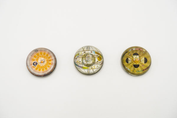 Solar System Map Cabochon Magnet - Set of Three