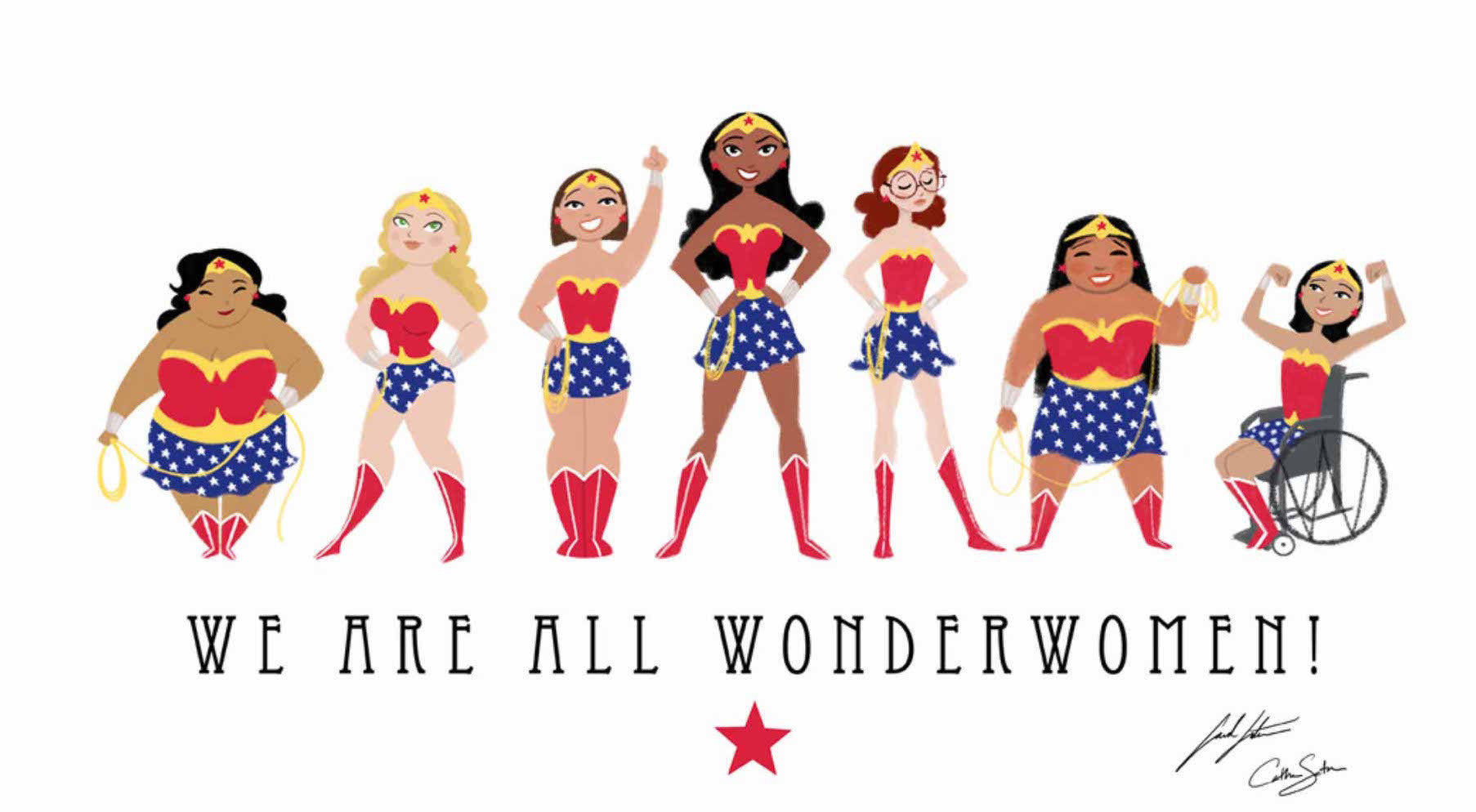 WE ARE ALL WONDERWOMAN