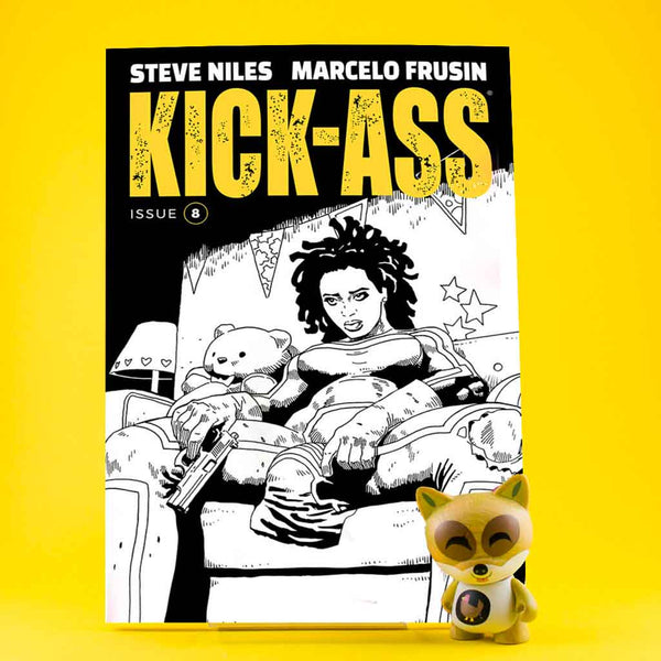 Kick-Ass #8 | Cover B B&W Frusin | Previews | Tienda online comics | Wash Cómics