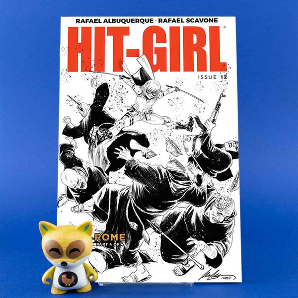 Cómic Hit-Girl #12 | B&W Cover de SD DISTRIBUCIONES | Wash Cómics