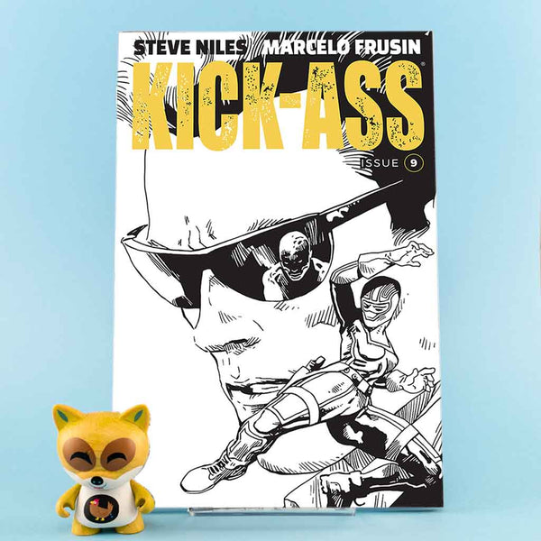 Kick-Ass #9 | Cover B B & W Frusin | Previews | Tienda online comics | Wash Cómics