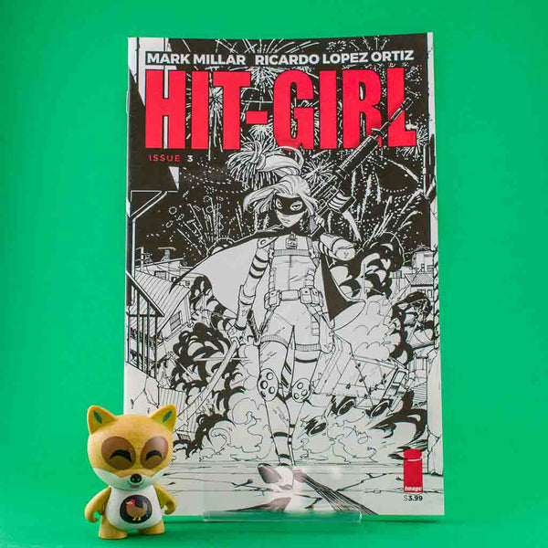 Hit-Girl #3 | Black and White Cover | Previews | Wash Cómics