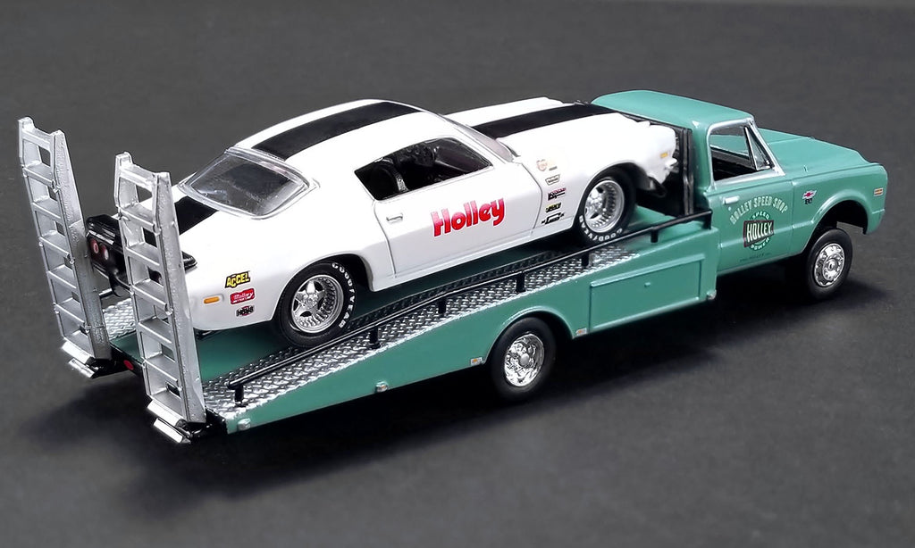 ACME Holley Speed Shop 1967 Chevy Ramp Truck & 1971 Camaro Z/28