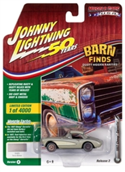 Johnny Lightning 50 Years Release 2 Version A Barn finds 1957 Chevy Corvette