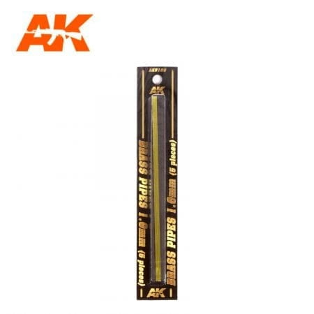 AK-Interactive AK9109 Brass Pipes 1.0mm x 5