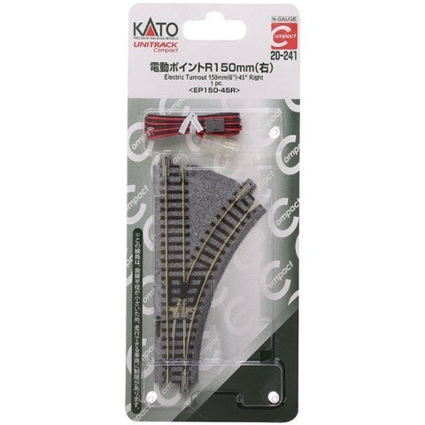 Kato 20-241 Unitrack Turnout 150mm 45* RH