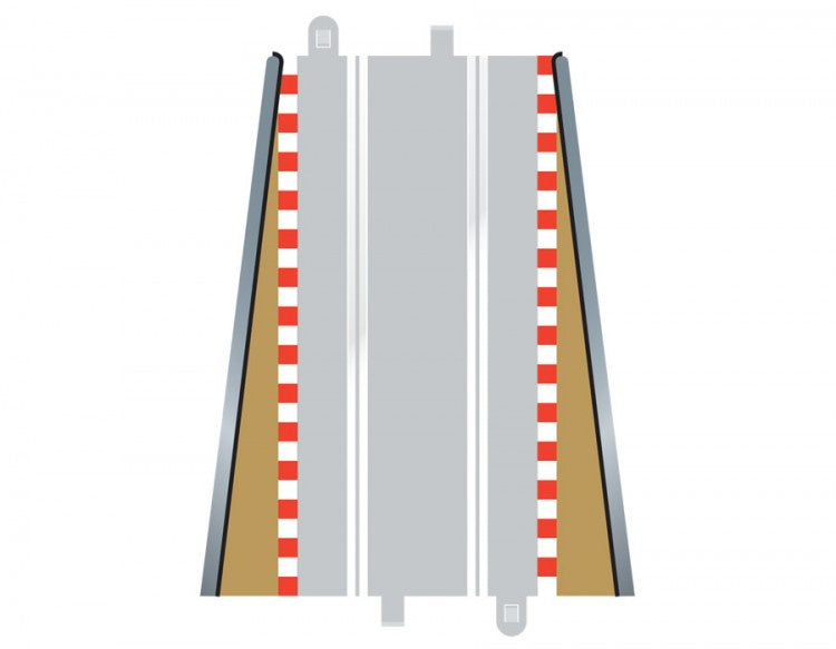 Scalextric C8233 Track - Borders & Barriers - Straight - Lead In/Lead Out (4)