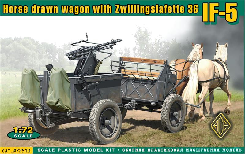 ACE Models 72510 Horse Drawn Wagon with Zwillingslafette 36 IF-5