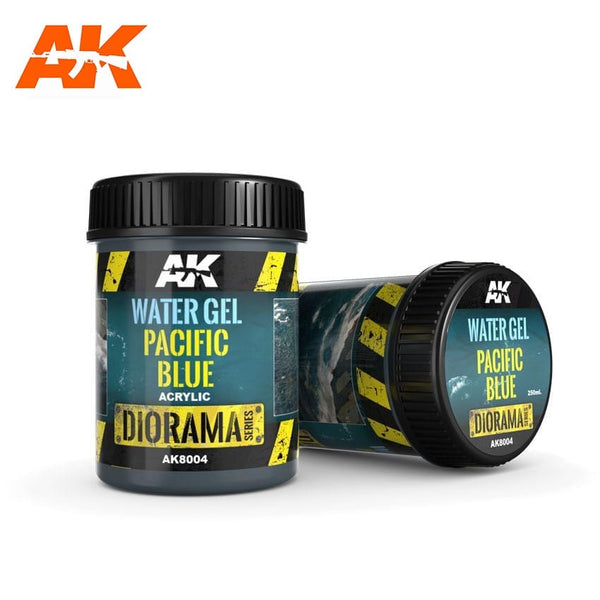 AK-Interactive AK8004 Terrains Water Gel - Pacific Blue - Acrylic 250ml