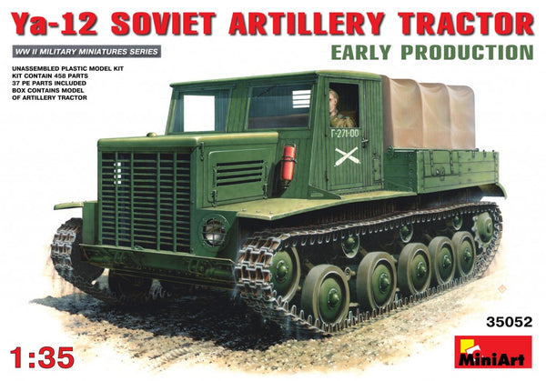 Miniart 35052 YA-12 Soviet Artillery Tractor Early Production