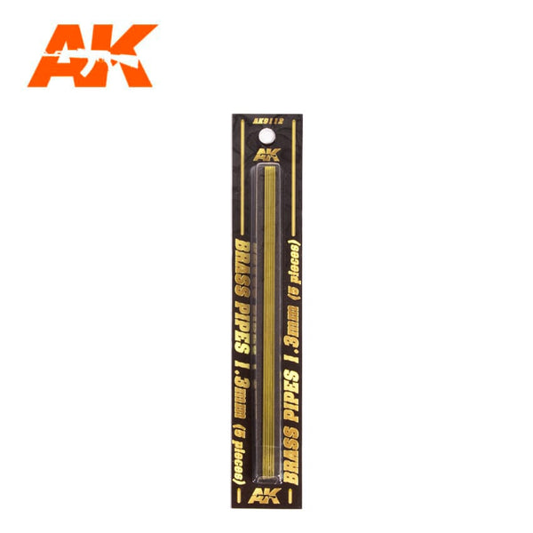 AK-Interactive AK9112 Brass Pipes 1.3mm x 5