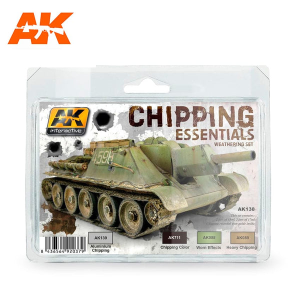 AK-Interactive AK138 Chipping Essentials Weathering Set