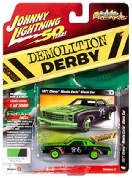 Johnny Lightning 50 Years Release 3 Version A Street Freaks 1977 Chevy Monte Carlo Stock Car