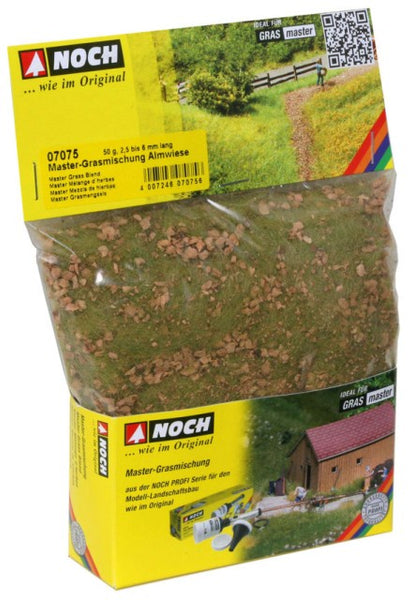 Noch 7075 Grass - Static 6mm - Alpine Meadow 50gm