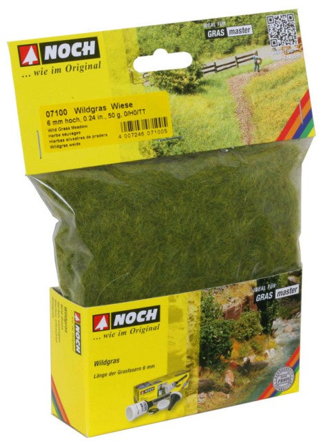 Noch 7100 Grass - Static 6mm - Meadow 50gm