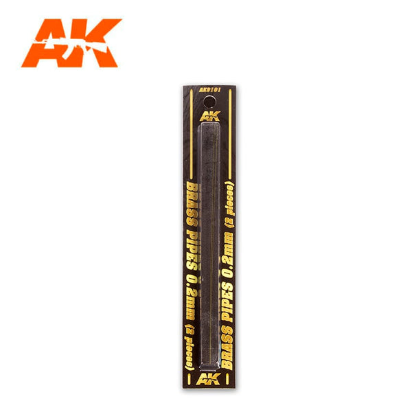 AK-Interactive AK9101 Brass Pipes 0.2mm x 2