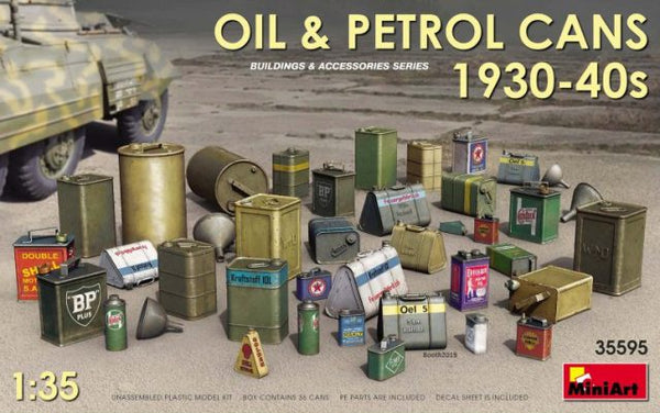 Miniart 35595 Oil & Petrol Cans 1930s-40s