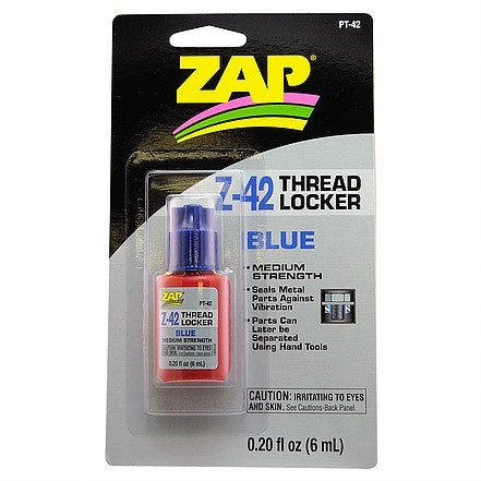 Zap PT42 Z-42 Thread Locker - Blue - Medium - 6ml