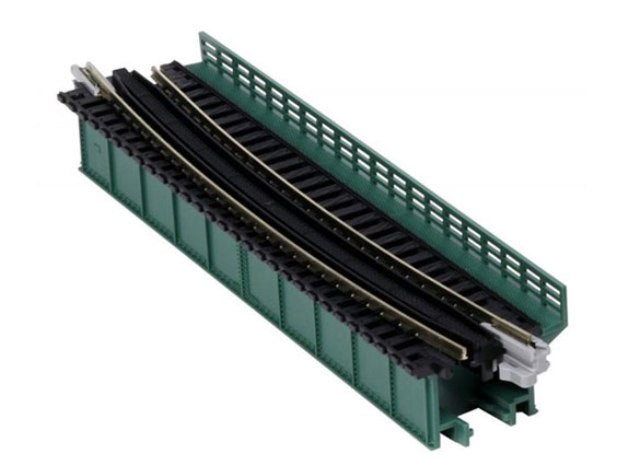 Kato 20-466 Unitrack Curved Deck Girder Bridge 448mm R - Green
