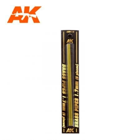 AK-Interactive AK9116 Brass Pipes 1.7mm x 5