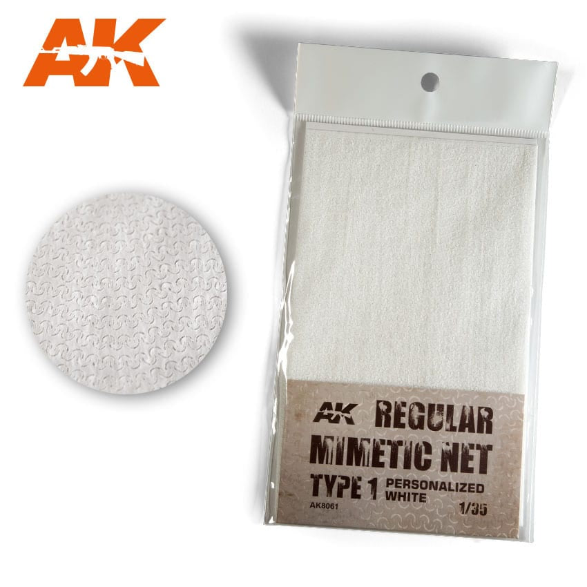 AK-Interactive AK8061 Regular Mimetic Net type 1 Personalised White