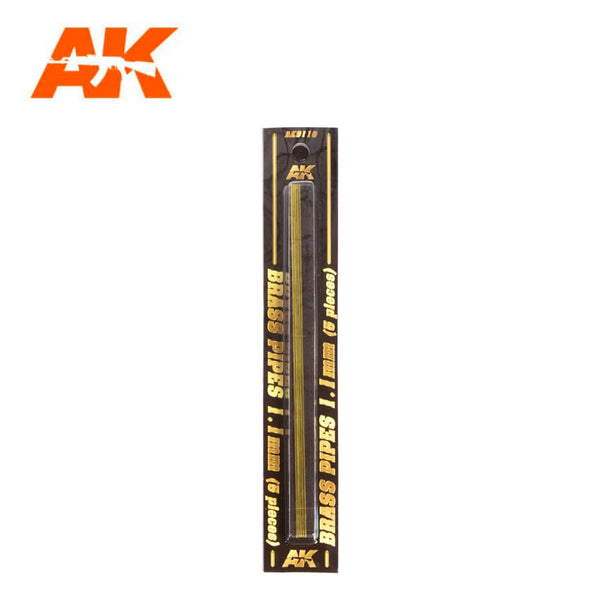 AK-Interactive AK9110 Brass Pipes 1.1mm x 5