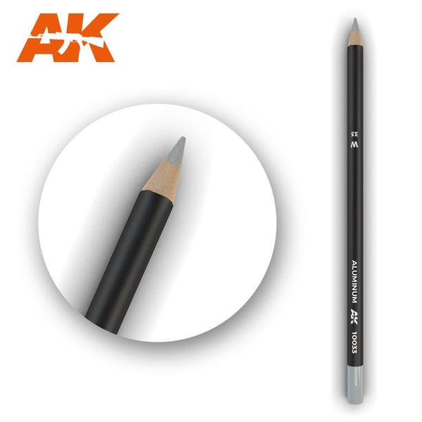 AK-Interactive AK10033 Watercolor Weathering Pencil Aluminum