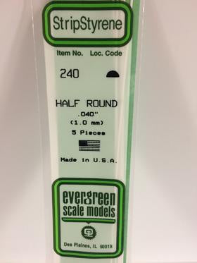 Evergreen 240 Half Round - 1.00mm