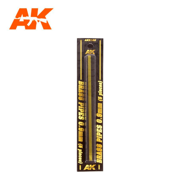 AK-Interactive AK9108 Brass Pipes 0.9mm x 5
