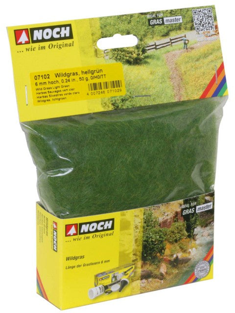 Noch 7102 Grass - Static 6mm - Light Green - 50gm