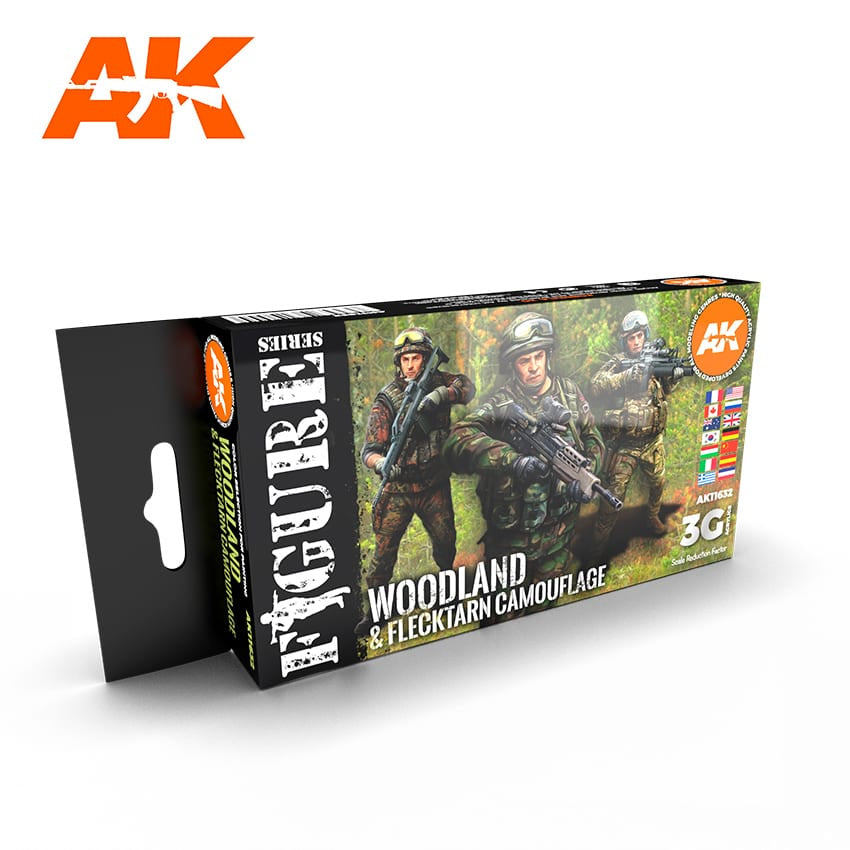 AK-Interactive AK11632 Modern Woodland & Flecktarn Colors Set