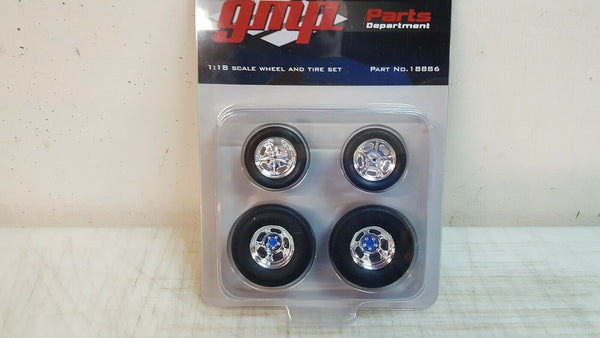 GMP 18886 Chrome Gasser Wheel & Tire Set