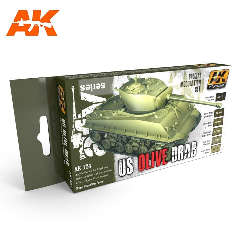 AK-Interactive AK131 Olive Drab Modulation Set