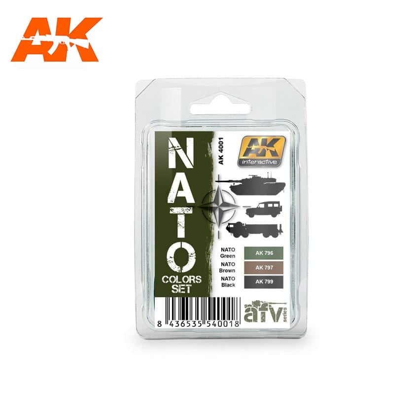 AK-Interactive AK4001 Nato Colors Set