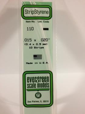 Evergreen 110 Strip - 0.40 x 0.50mm
