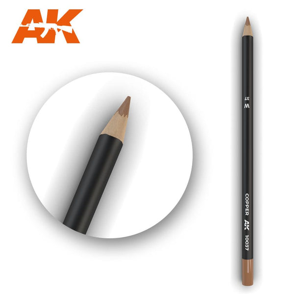 AK-Interactive AK10037 Watercolor Weathering Pencil - Copper