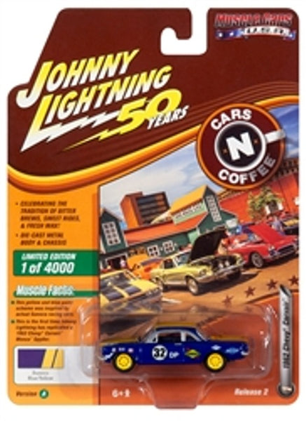 Johnny Lightning 50 Years Release 2 Version A Cars N Coffee 1962 Chevy Corvair