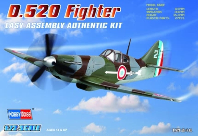 Hobby Boss 80237 Dewoitine D.520 Fighter - 1/72