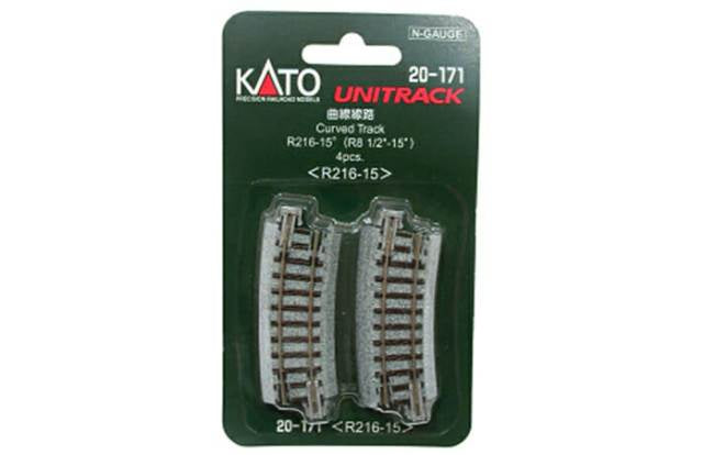 Kato 20-171 Unitrack Curve 216mm R 15* (4)