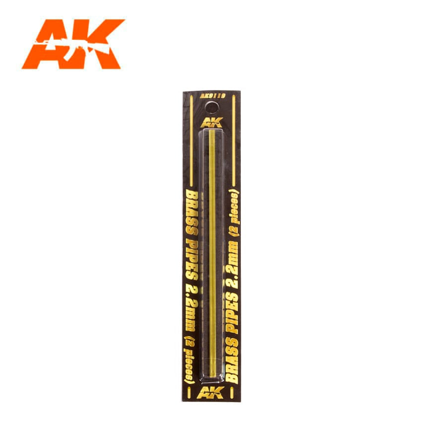 AK-Interactive AK9119 Brass Pipes 2.2mm x 2