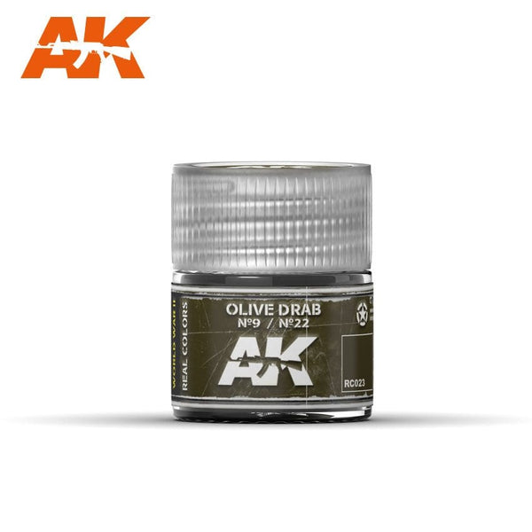 AK-Interactive RC023 Real Colors Olive Drab Nº9/Nº22 10ml