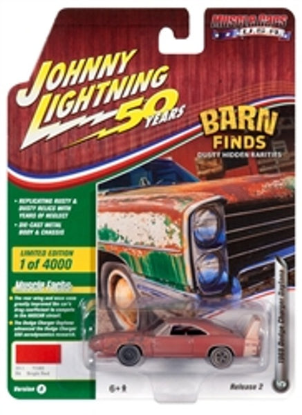 Johnny Lightning 50 Years Release 2 Version A Barn finds 1969 Dodge Charger Daytona