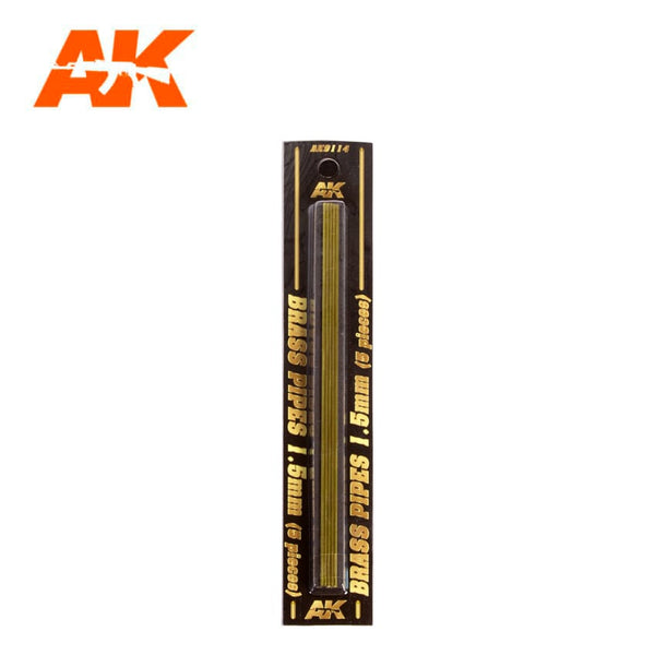AK-Interactive AK9114 Brass Pipes 1.5mm x 5