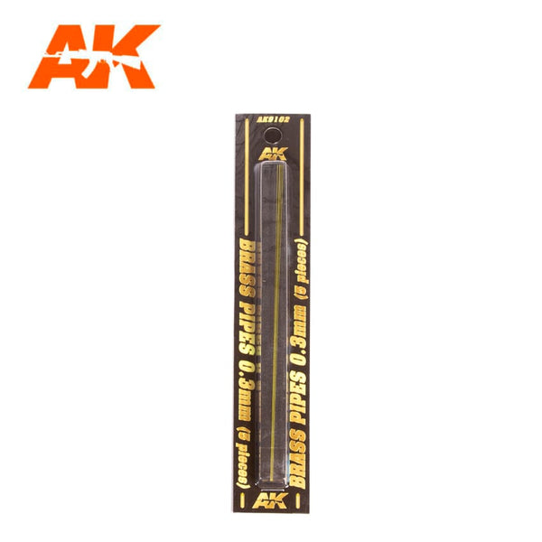 AK-Interactive AK9102 Brass Pipes 0.3mm x 5