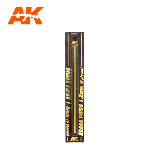 AK-Interactive AK9111 Brass Pipes 1.2mm x 5
